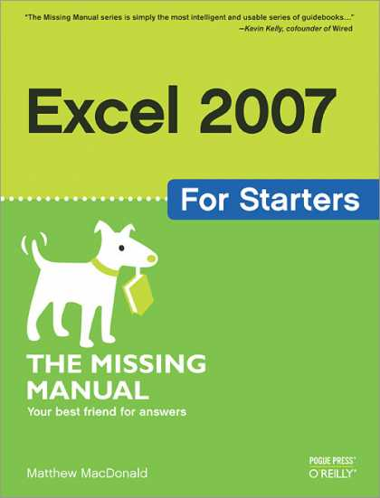 O'Reilly Books - Excel 2007 for Starters: The Missing Manual