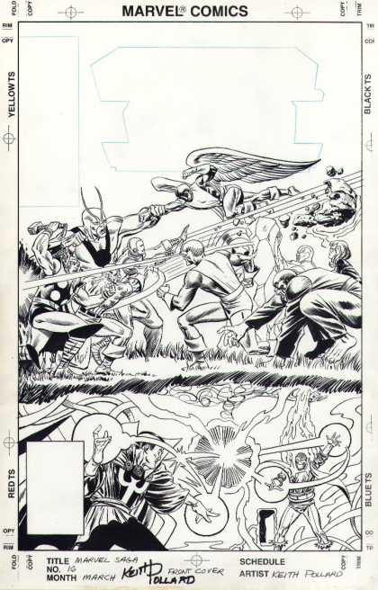 Original Cover Art - Marvel Saga #16 Cover (1987)