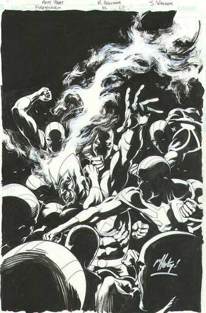 Original Cover Art - Firestorm - Firestorm - Nacker - Mask - Battle - Men