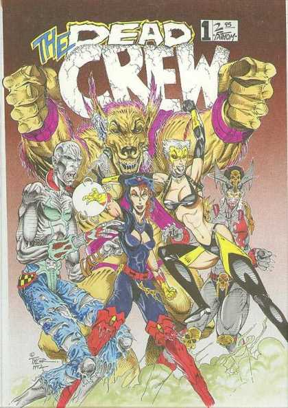 Original Cover Art - Dead Crew #1 Cover   - The Dead Crew - Warewolf - Skull - Crystal Ball - Ripped Jeans