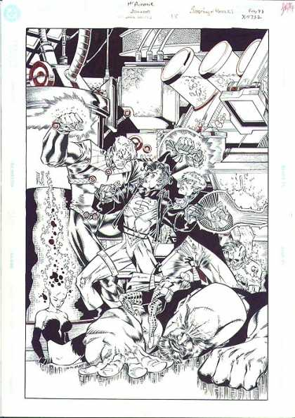 Original Cover Art - Superboy And The Ravers