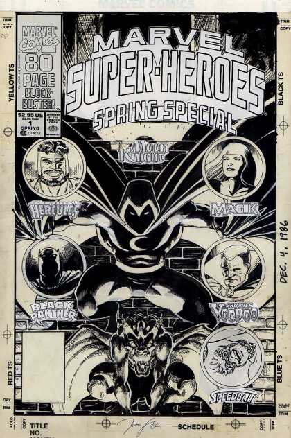 Original Cover Art - Marvel Super-Heroes #1 Cover (1990)