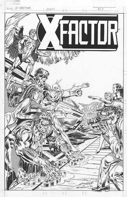 Original Cover Art - X-Factor Unpublished Cover