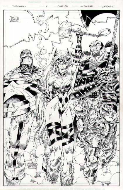 Original Cover Art - Avengers #7 Cover (1997)