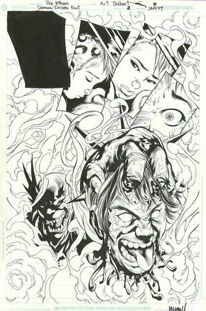 Original Cover Art - Demon: Driven Out - Demon - Jan 04 - Pop Mhan - Driven Out - Sketch