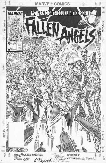 Original Cover Art - Fallen Angels