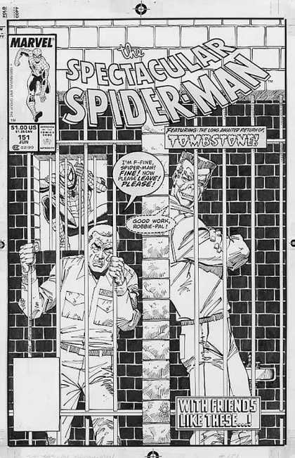 Original Cover Art - Spectacular Spider-man #151 Cover