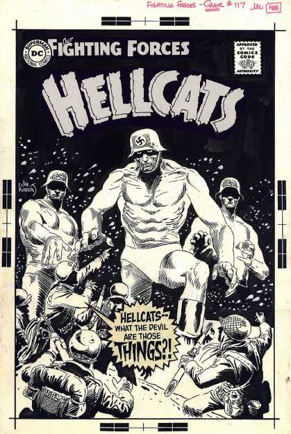 Original Cover Art - Our fighting Forces #117 Unpublished Cover (1968) - Dc Comics - Fighting Forces - Hellcats - Army - Nazi
