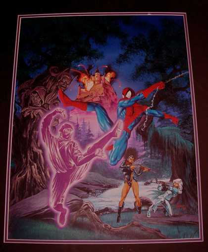 Original Cover Art - Spider-Man: Fear Itself Cover Painting (HUGE) 1990