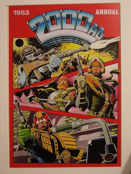 Original Cover Art - 2000 AD Judge Dredd Cover (1983)