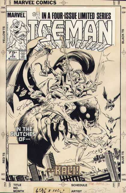 Original Cover Art - Iceman #2 Cover (1984)