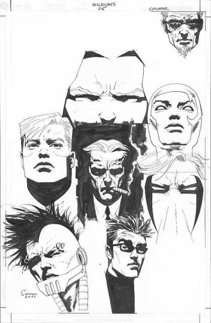 Original Cover Art - Wildcats - Black And White - Sketch - Drawing - Piercing - Glasses