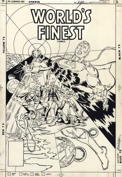 Original Cover Art - Worlds Finest #280 Cover