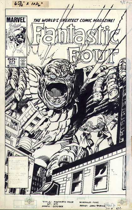 Original Cover Art - Fantastic Four #271 Cover (1984) - Marvel - Fantastic Four - Giant - City - The Worlds Greatest Comic Magazine