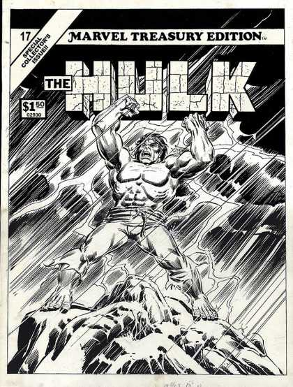 Original Cover Art - Marvel Treasury #17 Cover (Large Art) 1978