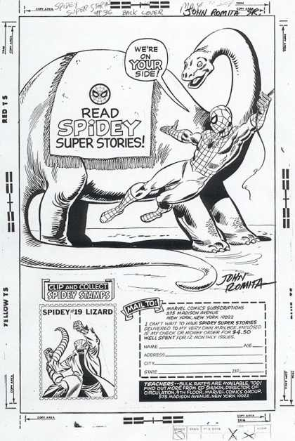 Original Cover Art - Spidey Super Stories Back Cover art