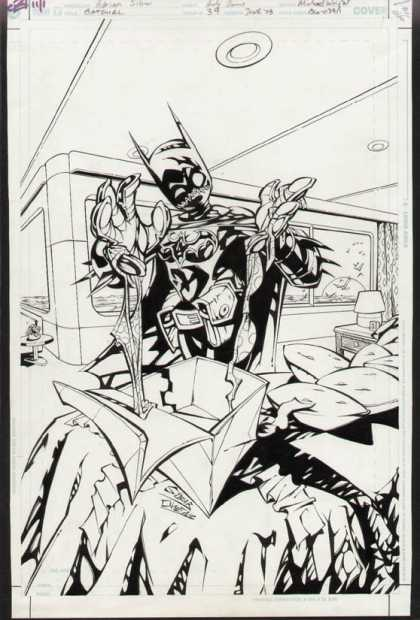 Original Cover Art - Batgirl - Window - Lights - Monster - Evil - Gift