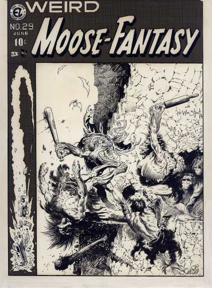 Original Cover Art - Weird Moose-Fantasy #29 Cover (1974)