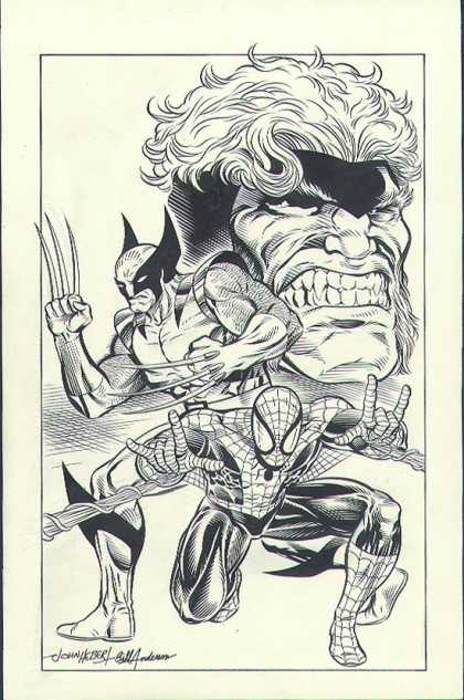 Original Cover Art - Spiderman/Wolverine