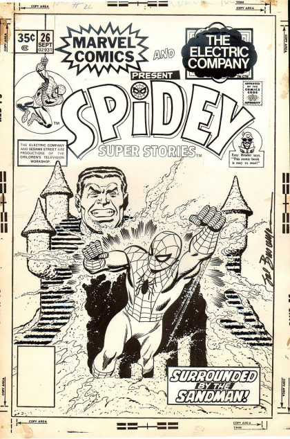 Original Cover Art - Spidey Super Stores #26 Cover (1977)