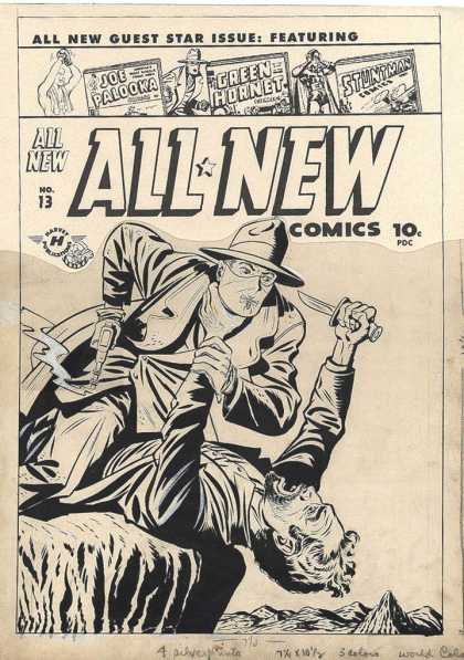 Original Cover Art - All-New Comics #13 Cover ( Large Art) 1946