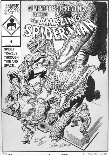 Original Cover Art - Amazing Spiderman: Adventures In Reading #1 Cover