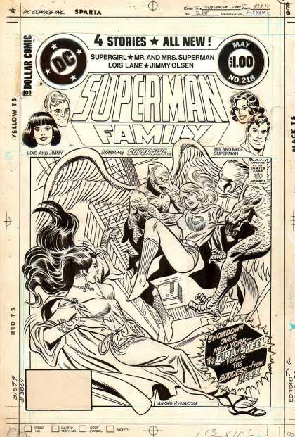 Original Cover Art - Superman Family #218 Cover (1982)