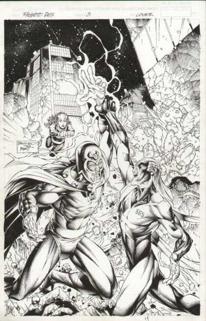 Original Cover Art - Magneto Rex - Magneto - Marvel - Mutant - Superhero - Robot