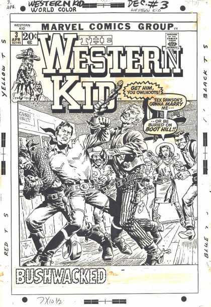 Original Cover Art - Western Kid #3 Cover (1971)