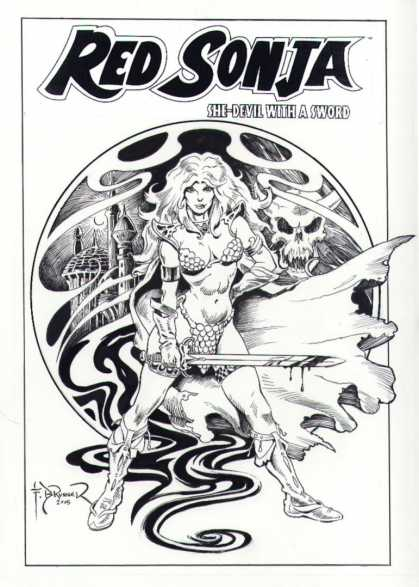 Original Cover Art - Red Sonja 1 Cover (2005)