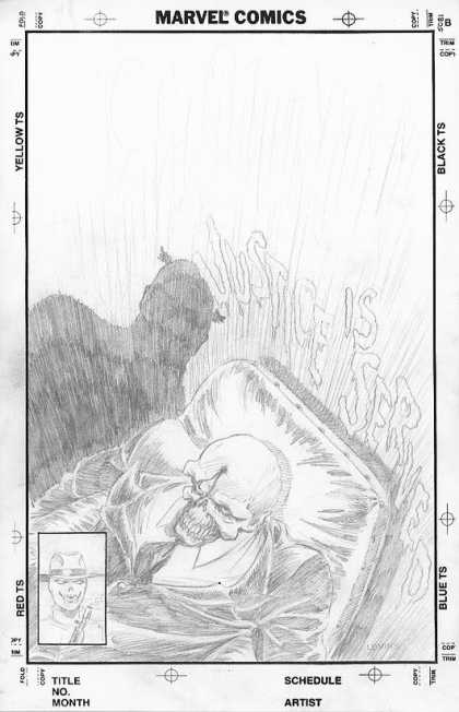 "Original Cover Art - Captain America Unpublished ""GRAPHIC"" Cover"