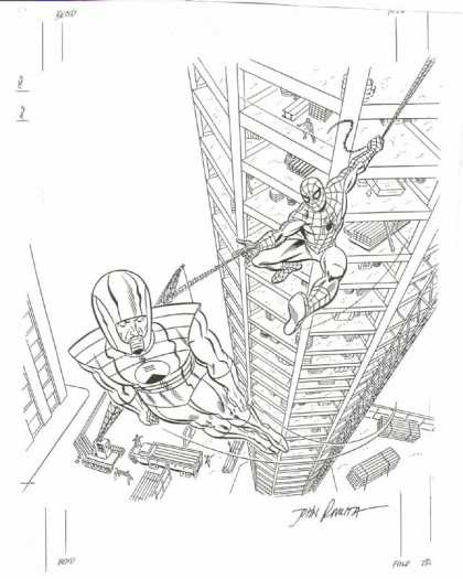 Original Cover Art - Amazing Spiderman Texas Instruments Cover Art (1982) - Spiderman - Villian - Flight - Web-slinger - Bad Guy