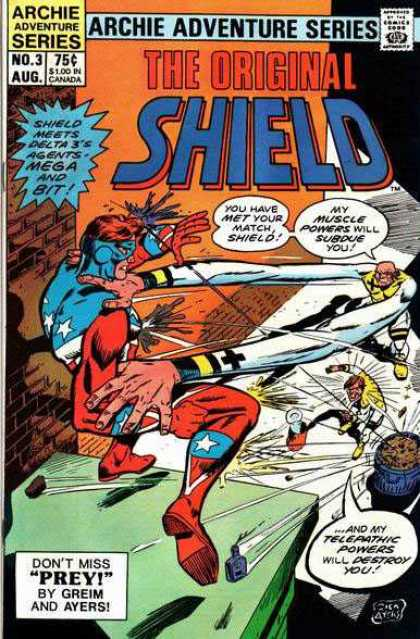 Original Shield 3 - American - Superhero - Elastic - Rubber - Fightign - Dick Ayers