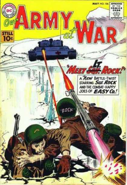 Our Army at War 106 - Comics Code Authority - 10 Cents - Dc - May - Tank - Joe Kubert