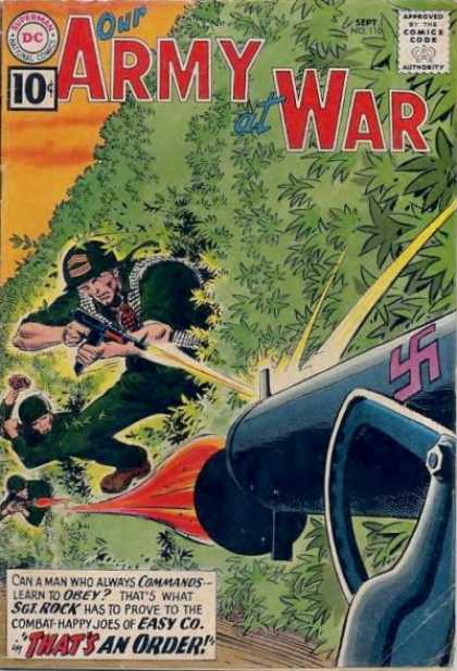 Our Army at War 110 - Superman - National Comics - Approved By The Comics Code Authority - Dc - Leaves - Joe Kubert