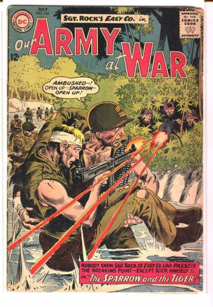 Our Army at War 144 - Ambushed - Sparrow Open Up - The Tiger - The Sparrow - Sgt Rock - Joe Kubert