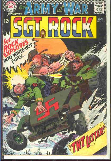 Our Army at War 175 - Explodes - Fury - Letter - Solders - Fighting - Joe Kubert