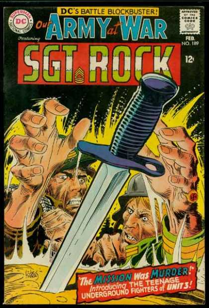 Our Army at War 189 - Sgt Rock - Sword - Dc - Battle Blockbuster - Hands - Joe Kubert