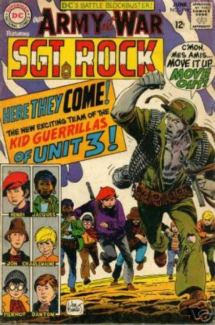 Our Army at War 194 - Sgt Rock - Kid Guerrillas - Henri - Jacques - Jon - Joe Kubert