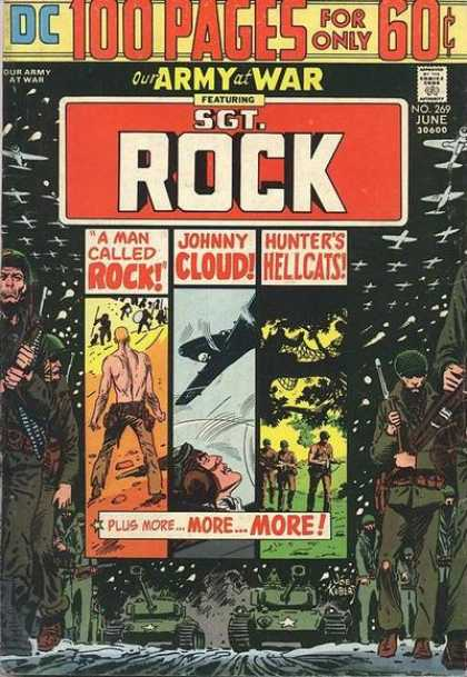 Our Army at War 269 - A Man Called Rock - Johnny Cloud - Hunters Hellcats - Planes - Soldiers - Joe Kubert