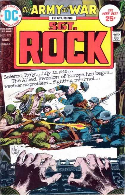 Our Army at War 278 - Soldiers - Salerno Italy - Europe - July 23 1943 - Fighting - Joe Kubert