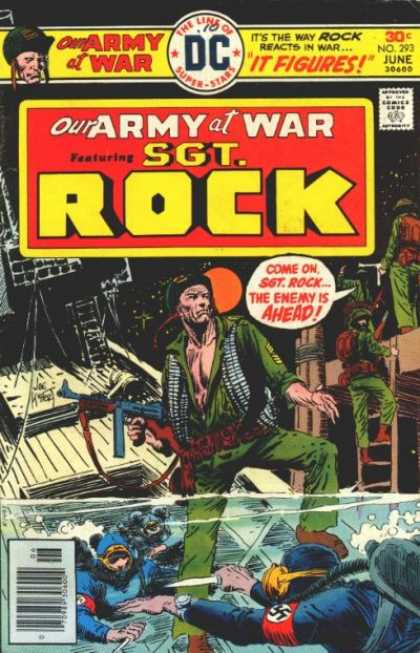 Our Army at War 293 - Soldiers - Scuba Divers - Ship - Nazi - No 293 - Joe Kubert