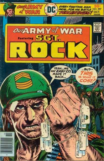 Our Army at War 297 - Soldier - Seargent Rock - Dog Tags - Cost - Casualties - Joe Kubert