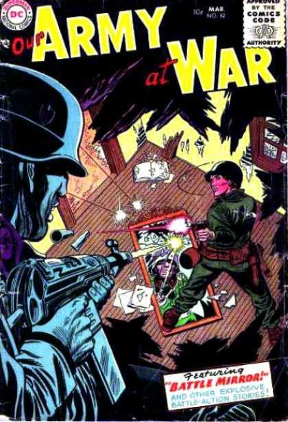 Our Army at War 32 - Military - Comics Code Authority - Guns - Weapons - Destruction
