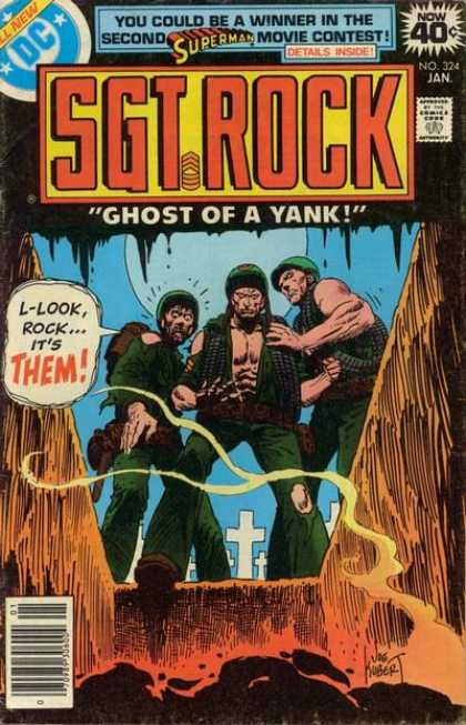 Our Army at War 324 - Sgt Rock - Ghost Of A Yank - Grave - Tombstone - Soldiers
