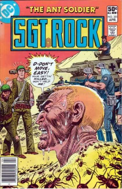 Our Army at War 351 - Sgt Rock - The Ant Soldier - War - Army - Tanks
