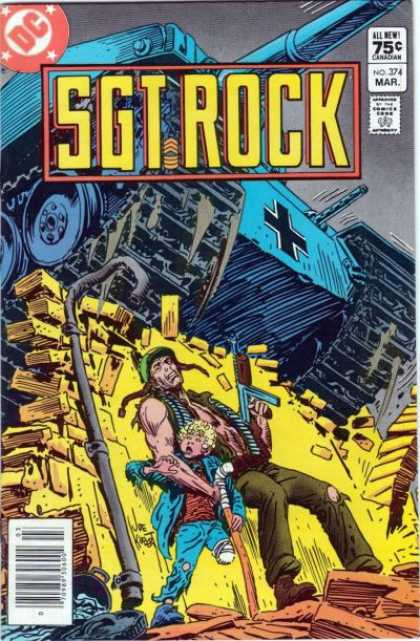 Our Army at War 374 - Tank - Dc - March - Sgt Rock - 75 Cents