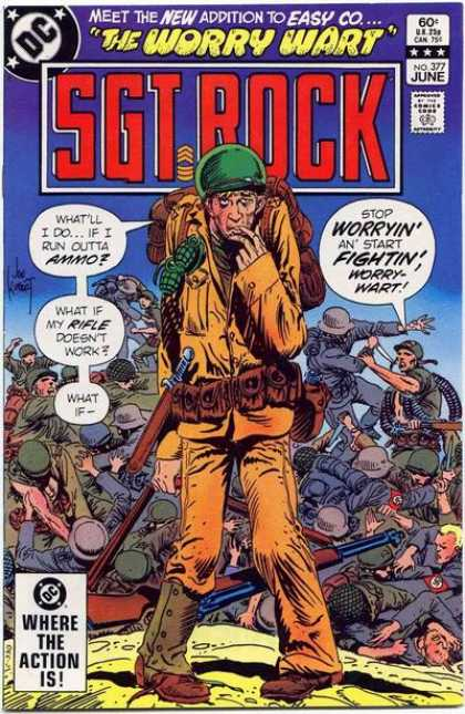 Our Army at War 377 - The Worry Wart - Sgt Rock - What If - War - Fighting