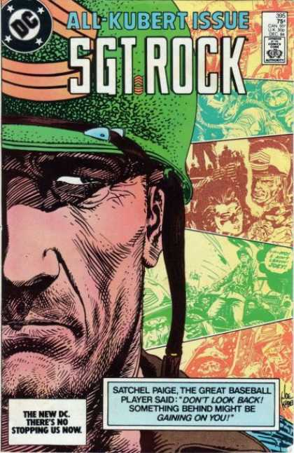 Our Army at War 395 - Kubert - Sgt Rock - Dc Comics - All-kubert Issue - Satchel Paige Quote