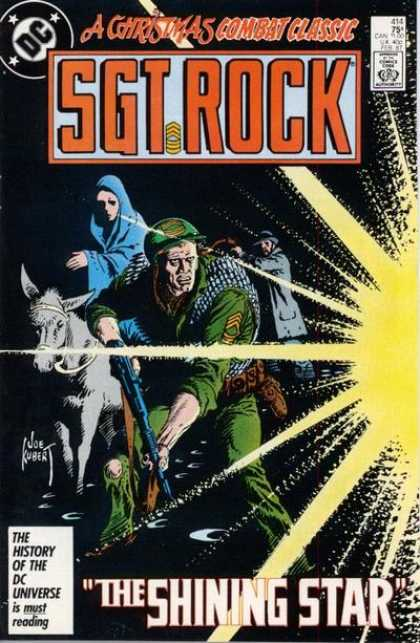 Our Army at War 414 - Dc - A Christmas Combat Classic - Sgt Rock - Soldier - Gun